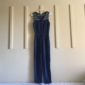 Anthropologie Blue Jumpsuit