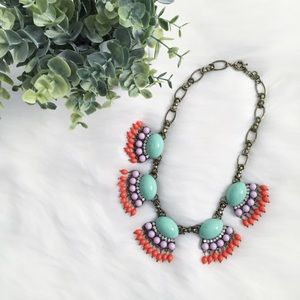 "Erica Rose Jewelry - ""Mollie"" Necklace    Mint Fan Fringe Statement"