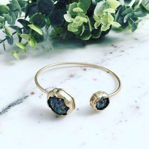 """Erica Rose Jewelry - """"Stella"""" Bracelet    Black & Gold Iridescent Cuff"""