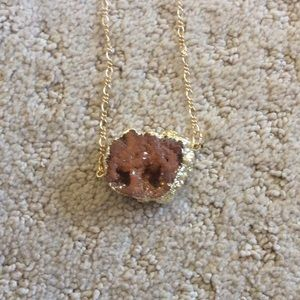 Druzy Stone Necklace!
