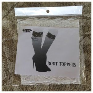 ICON Accessories - White Lace Boot Toppers NIB