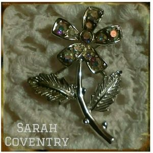 Final Vintage Sarah Coventry Mini Fluer AB pin '69