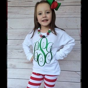 Other - Custom Monogram Girls Sweatshirt Beautiful!!