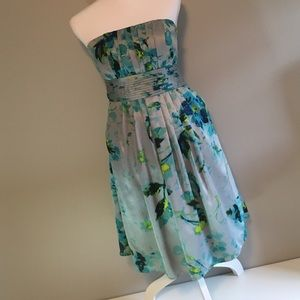 The Limited Strapless Floral Dress *with pockets!*