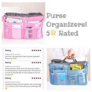 Handbags - NEW Handbag interior organizers choose pink/blue!