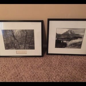 Ansel Adams The American Wilderness two Photo Set for sale