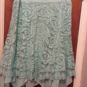 Dresses & Skirts - Beautiful teal lace skirt.