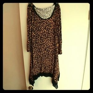 Animal print night gown