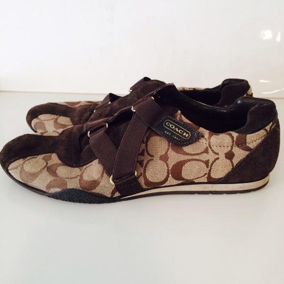 ed847414da66 Coach Shoes - Coach brown strap sneaker