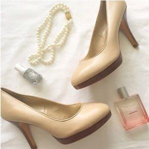 ANTONIO MELANI Shoes - NEW Antonio Melani nude leather pumps wood heel