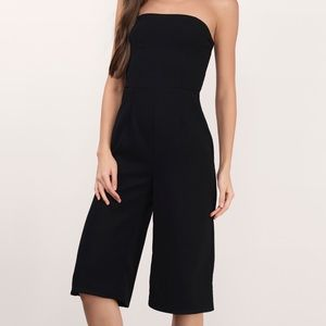 Tobi Other - Black sleeveless culotte jumpsuit