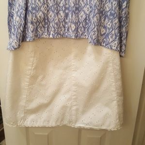 Attention Dresses & Skirts - SALE! White Eyelet Skirt with Lining.
