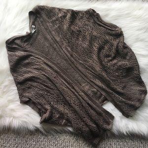 Dress Barn Tops - Tan Knit Oversized Cardigan
