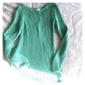 Club Monaco Sweaters - Club Monaco mint green open knit sweater
