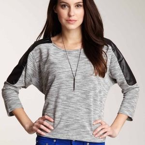 Lucca Couture Sweaters - Lucca Couture 3/4 sleeve contrast panel sweater