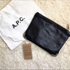 APC Black Leather Pouch