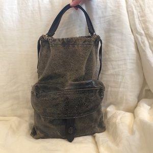 Dries Van Noten Handbags - Dries Van Noten black distressed leather handbag