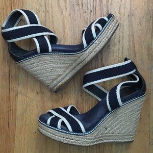 Tory Burch Shoes - FINAL DROP! Tory Butch Navy Wedges