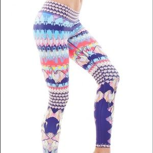 NUX Pants - NUX navy flamingo leggings