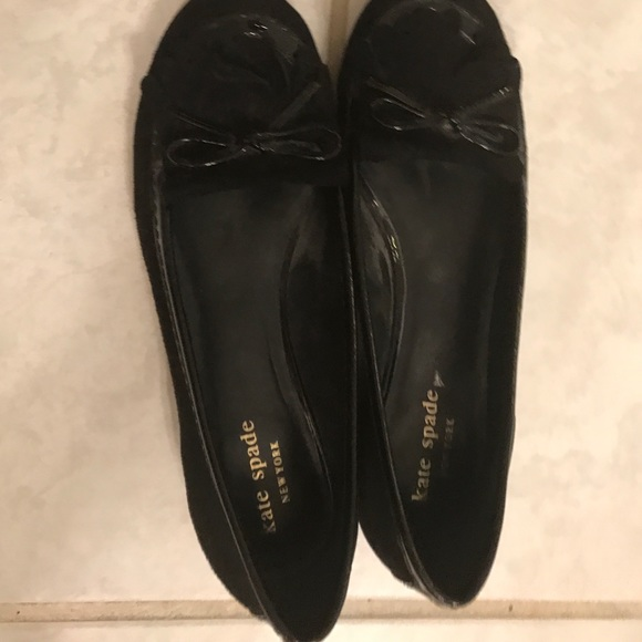 926ca576343 kate spade Shoes - Kate spade black suede loafers