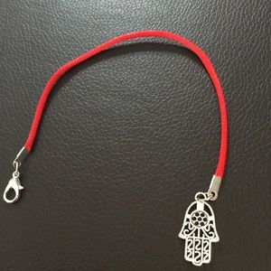 Jewelry - Red string protection bracelet with amulet