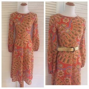 ⬇️1960's Vintage Lightweight Print Dress, Mod, 60s