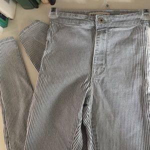 Bullhead Pinstripe Skinny Jeans