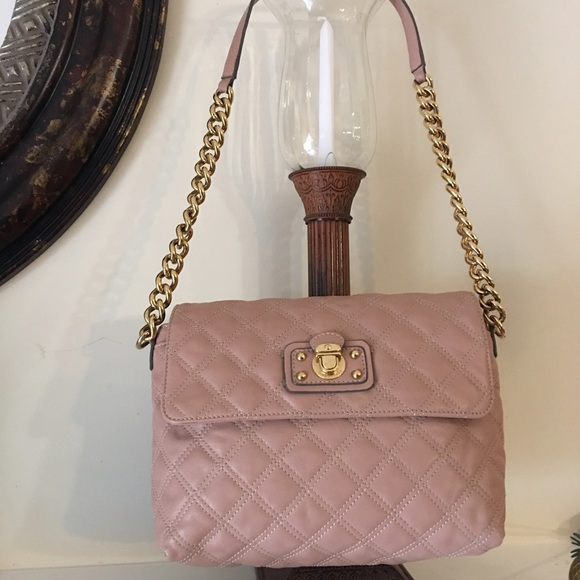 Pink quilted leather handbags