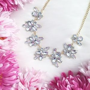 """Erica Rose Jewelry - """"Anya"""" Necklace    Clear Crystal Statement"""