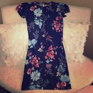 French Connection Floral Graphic Print Mini Dress