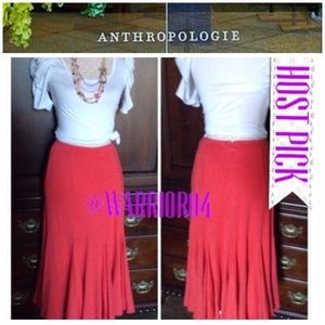Anthropologie Dresses & Skirts - 🆕🆕Trumpet Skirt Coral Red NWT🆕🆕