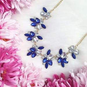 """Erica Rose Jewelry - """"Anya"""" Necklace    Blue & Clear Crystal Statement"""