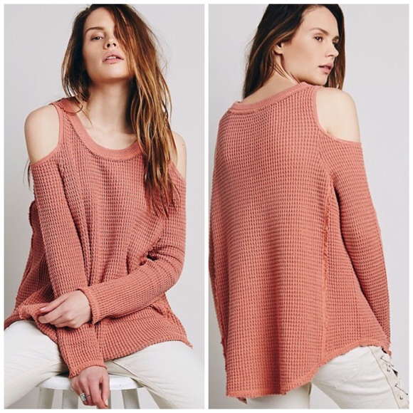 a2d21bf59b3a8b Free People Sweaters - Free People Sunset cold open shoulder thermal S
