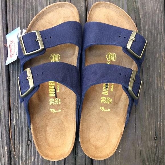 ecbdfd79b51b30 Navy blue double strap Birkenstocks 39 8.5