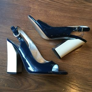 Casadei Shoes - CASADEI blue and cream pumps