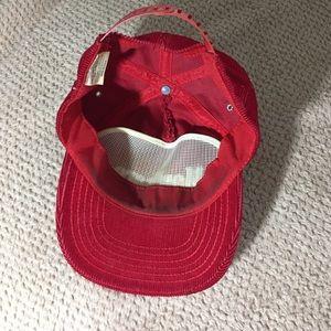 marlboro Accessories - Vintage Red Corduroy Marlboro Trucker Hat bf9cc0167d26