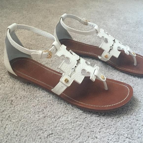 647ec3fe4 ivory Tory burch phoebe sandals. M 5830b5b3f09282492306028e
