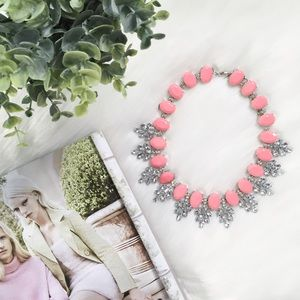 """Erica Rose Jewelry - """"Amelia"""" Necklace    Pink Crystal Leaves"""