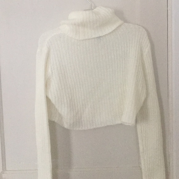 68% off H&M Sweaters - H&M cream crop turtleneck sweater from ...