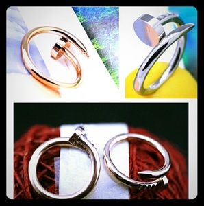 Jewelry - Nail Rings- gold, silver, black- Brand New
