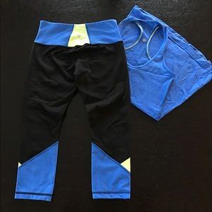 lululemon athletica Pants - Lululemon Colorblock Tank & Crop Pants Set
