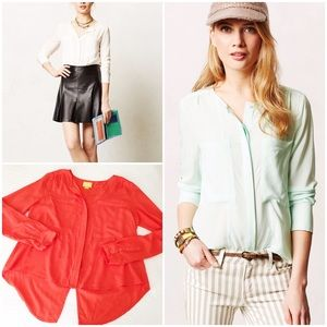 Anthropologie Tops - anthropologie clara button down blouse