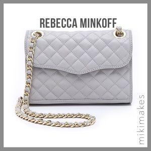REBECCA MINKOFF • affair mini quilted bag smoke