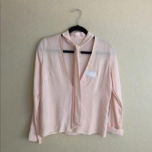 Brandy Melville Tops - BNWT Brandy Melville Pink Choker Blouse