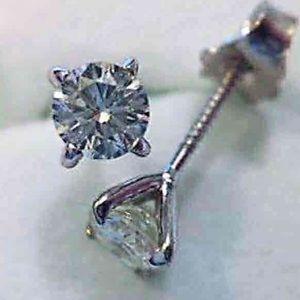 Jewelry - ONE LEFT🎉💎💟2.0CT DIAMOND SCREWBACK 14K STUDS