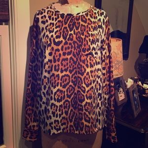 Equipment Silk Leopard Pullover Blouse