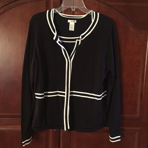 East 5th Sweaters - East 5th black cardigan set size M