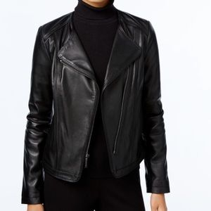 Michael Kors Michael Leather Motto Jacket