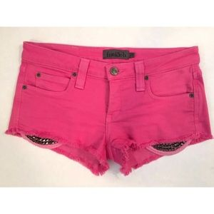 Frankie B. Denim - FRANKIE B. PINK DENIM SHORTS