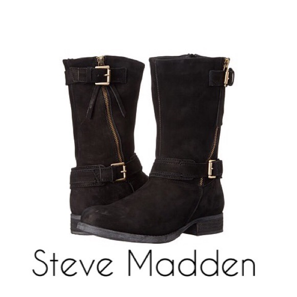 Steve Madden Womens Kavilier Motorcycle Boot